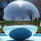 Large Top Quality Double Layers Floating Sliver Inflatable Mirror Ball For Event Decoration