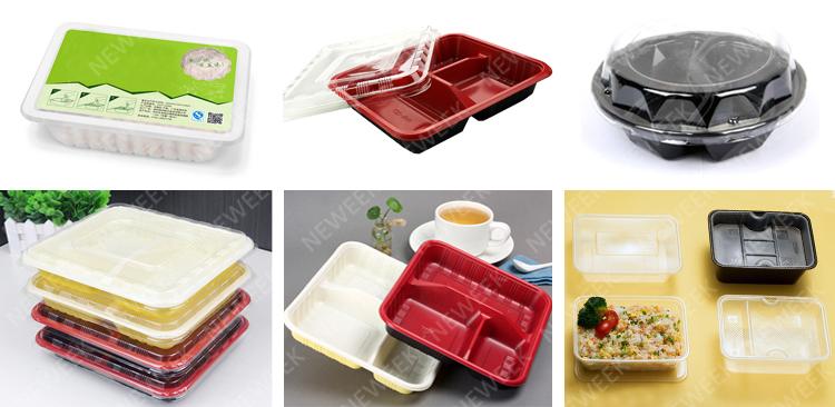 NEWEEK película contínua vegetais rápido caixa de plástico de alimentos do mar mar máquina de embalagem com frete grátis