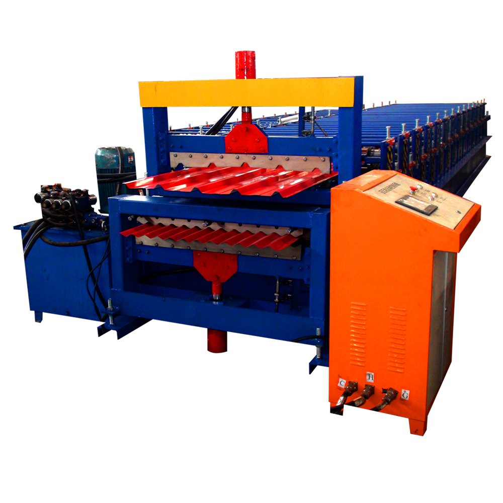 xn Double layers roof panel roll forming machine