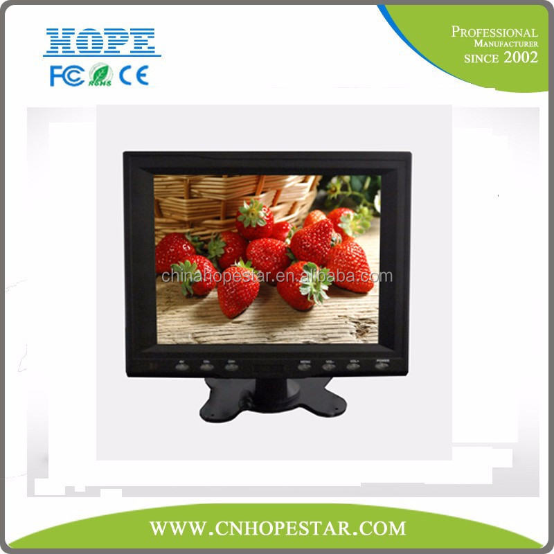 "Portable Mini 8"" Touch LCD Monitor 12V Cheap CCTV Touch Screen Monitor with input"