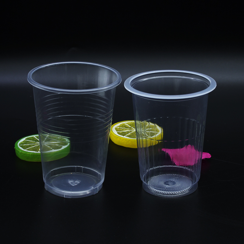 Transparent square plastic slush cup with cover
