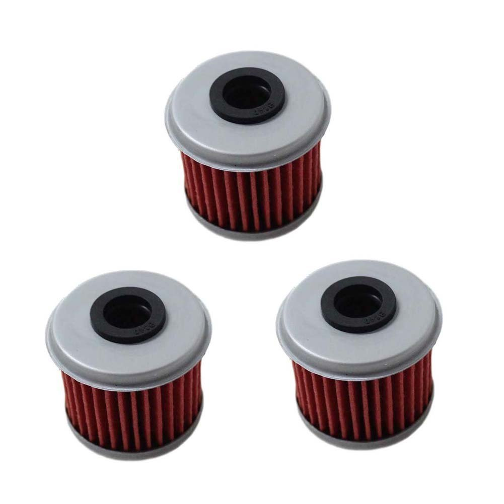 Poweka Oil Filter for Honda CRF150R CRF250R CRF250X CRF450R CRF450X Motorcycle Replace HF116 KN116 Pack of 5