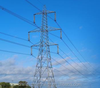 Hot-dip Galvanizing 60 Kv Single Circuit Overhead Transmission Line Lattice  Towers Design - Buy Lattice Towers Design,60kv Tower Steel,Tower