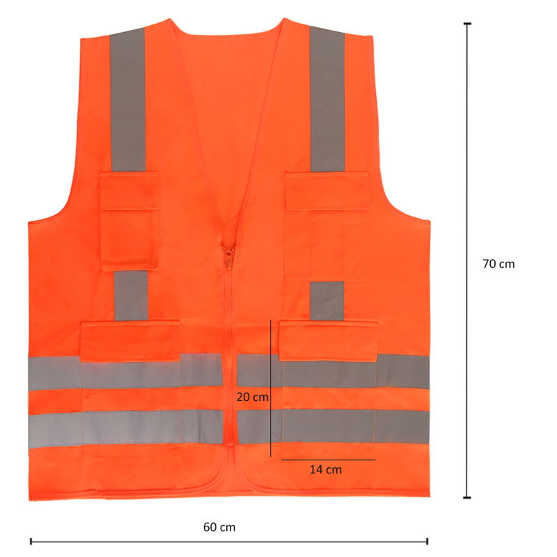 ANSI 107 fluorescent yellow <strong>orange</strong> red safety jacket reflective <strong>vest</strong> class 3