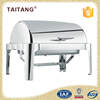 Stainless steel food machine restaurant equipment roll top chaffing dishes for catering