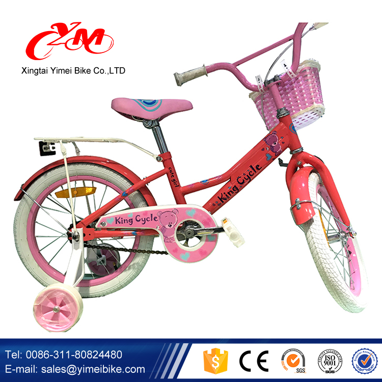 2016 Beautiful Grils style 16 Inch Bike Children/Wholesale Kids Bike/CE approved Child Bicycle for Girl with hot wheel
