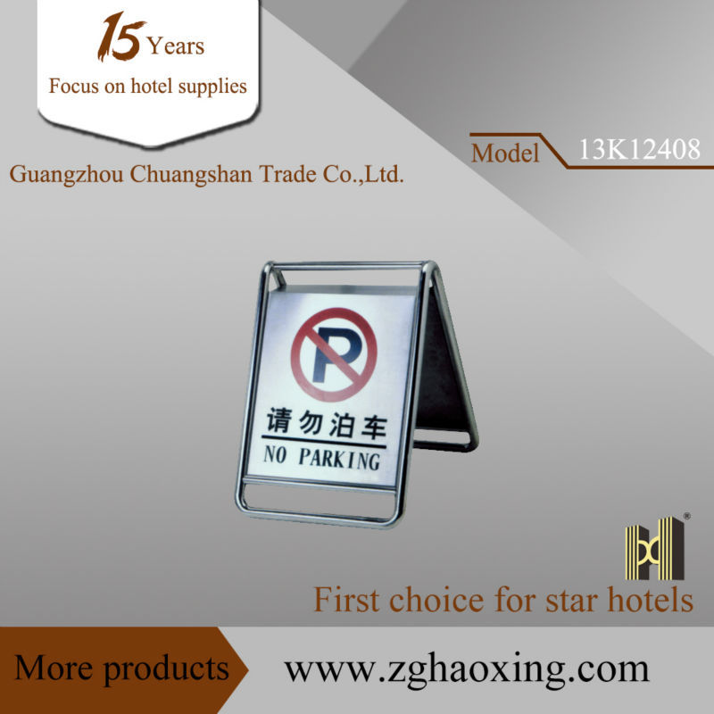Stainless steel full parking sign stand/ No parking