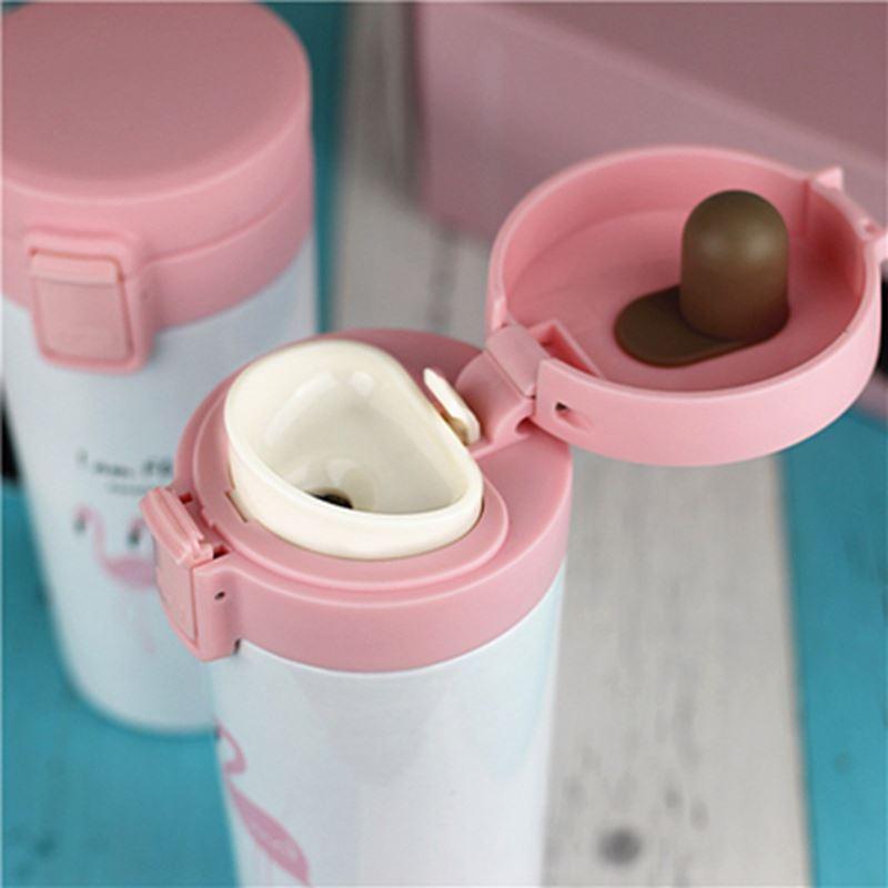 Thermos en Inox Garder la chaleur et le froid 500ML Ideal pour cafe et thé Vacuum Insulation Cup – Flamingo, imychic