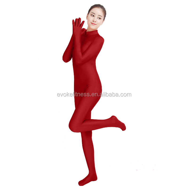 Burgundy Boat Neck Adult Full Body Ballet Unitard/Dance Costume/ Gymnastics Leotard/Cosplay Wear