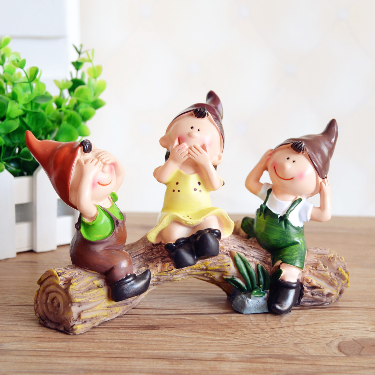 Free shipping Resin crafts people minimalist living room home decorations cute doll ornaments creative decorations