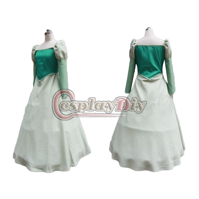 Get Quotations 2015 Cheap Beauty And The Beast Green Belle Princess Dress Anime Cosplay Costume