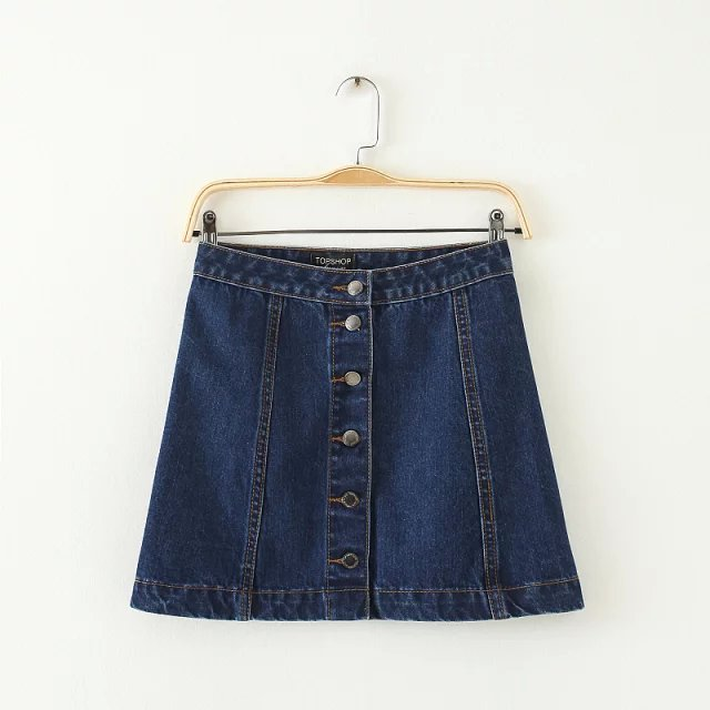 47d269239f4 Get Quotations · free shipping hot sale Denim skirt shop top skirt vintage women s  denim short skirt button A
