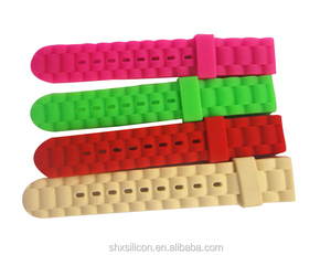 color silicone rubber watchband, silicone wrist watch band, silicone strap watch
