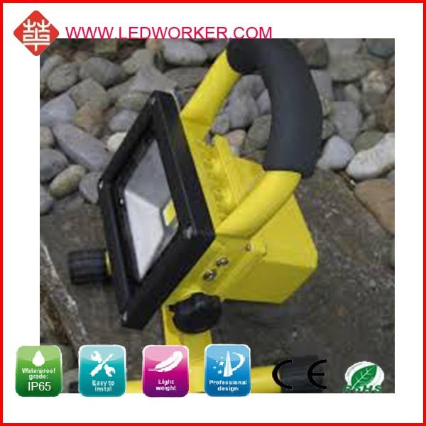 Main products garden light 20W rechargeable led floodlight , AC/DC adapter, 12V car plug charger include