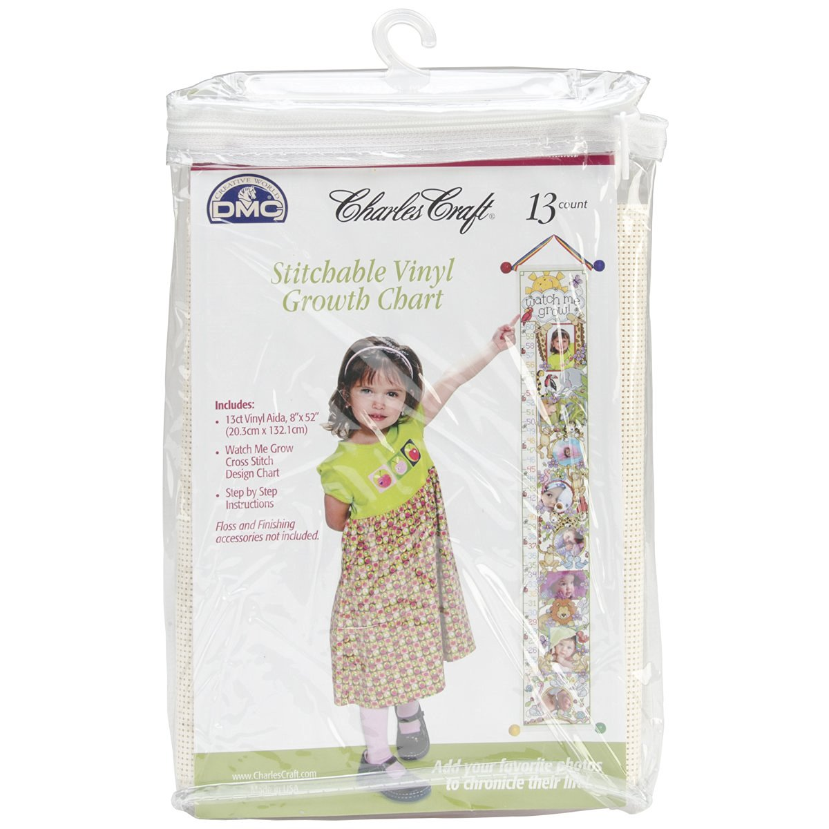 Buy Dmc Ready To Stitch Baby Collection Vinyl Growth Chart 8 By 52