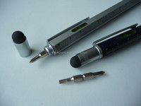 Metal multi functional stylus touch pen
