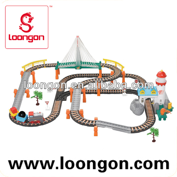 Loongon Elektrische Tailway Toy Train B / O Train Track Toys