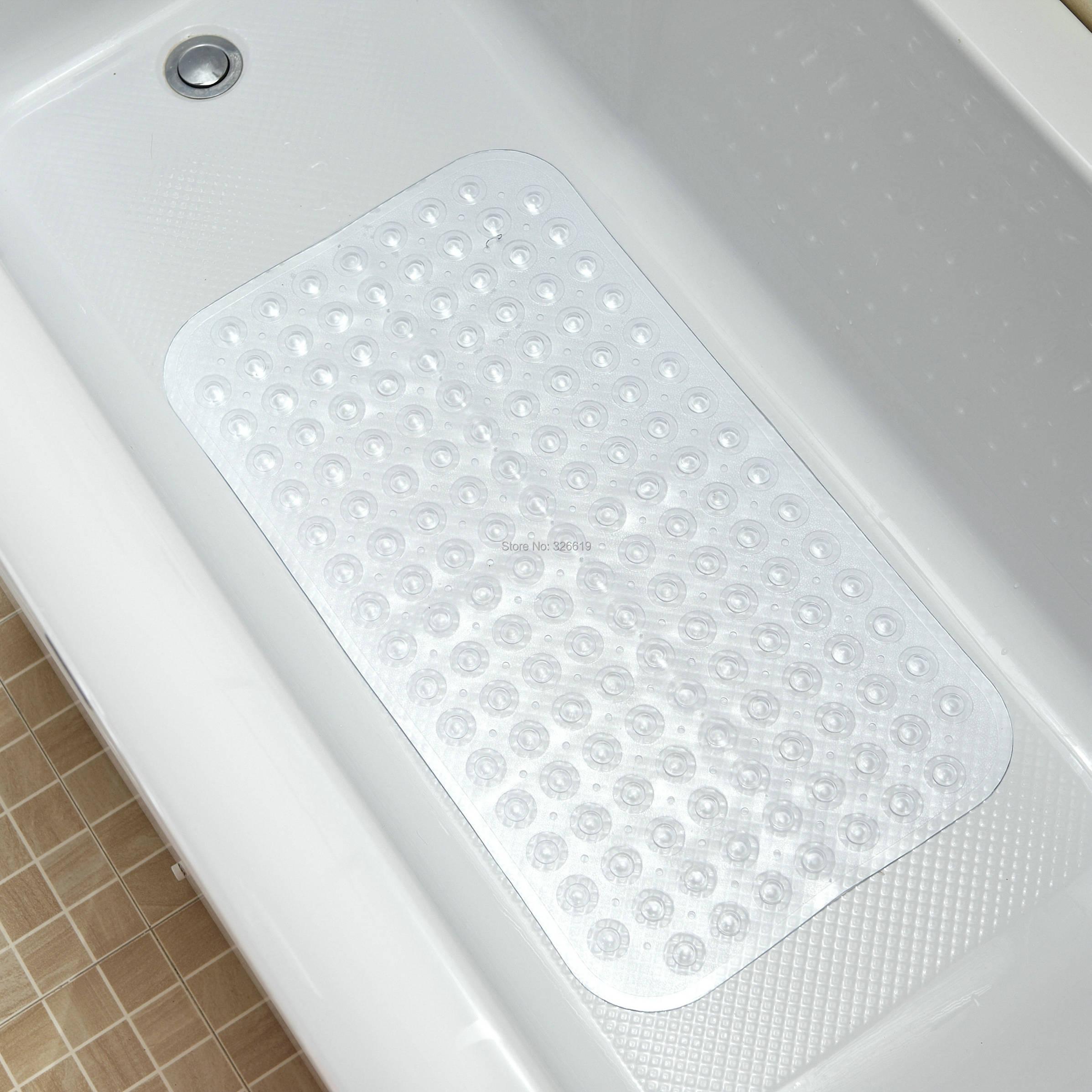 Free Shipping Clear Bath Mat Bathroom Slip Resistant Pad