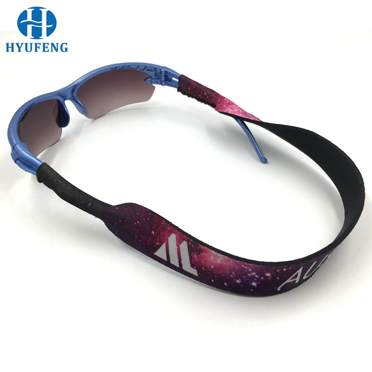 sports run waterproof custom printed floating neoprene sunglass strap