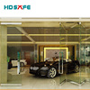 sliding folding glass door interior door for shopping mall
