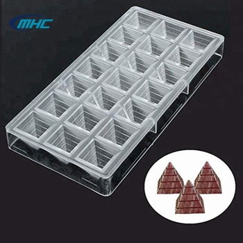 Home Made Pyramid Shaped Clear Hard  PC Chocolate Mold  Candy Mold