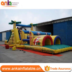 2017 New Design indoor obstacle inflatable bouncer for toddlers