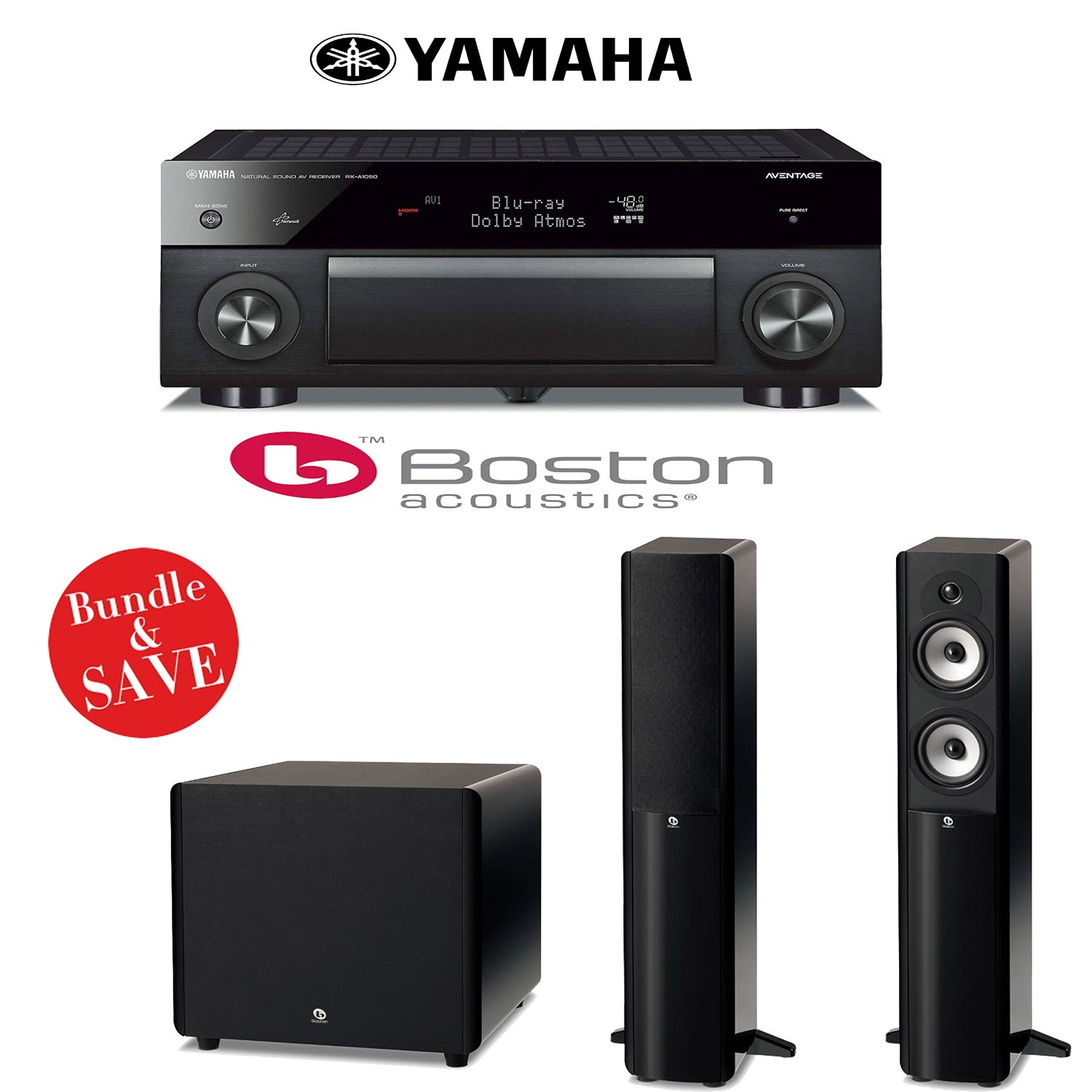 Get Quotations · Yamaha RX-A1050 7.2-Channel Network AV Receiver + (1) Pair  of
