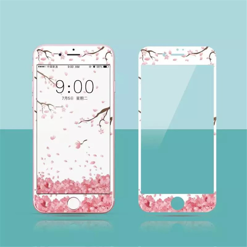 China Factory Supplier Cartoon Change High Clear Tempered Glass Screen Protector For Apple iPhone 7 Plus