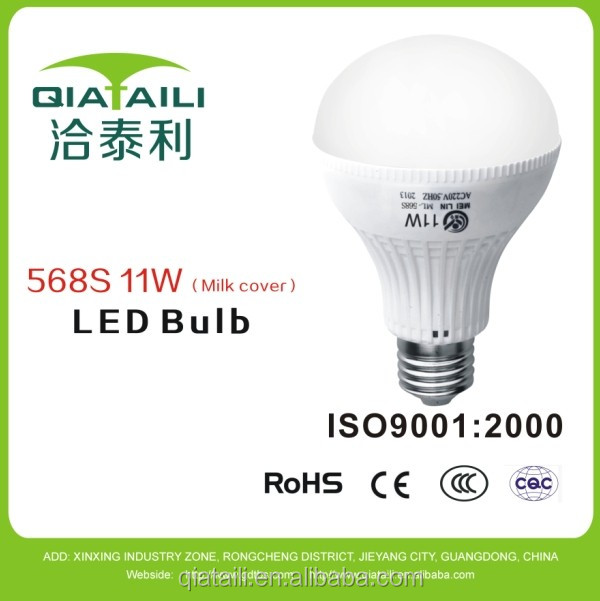 E27 9W LED bulb light, 270Lm, 11W incandescent replacement