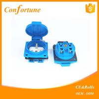 Guangzhou Supplier 1 gang surface waterproof socket Eu wall socket SCHUKO SOCKET with shutter