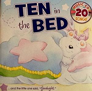 Sing-Along Book, Ten In The Bed - Music Cd with 20 Songs!! Sing Along Book with 20 Song CD