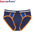 Custom elastic waist band nylon spandex panties for saxx men underwear