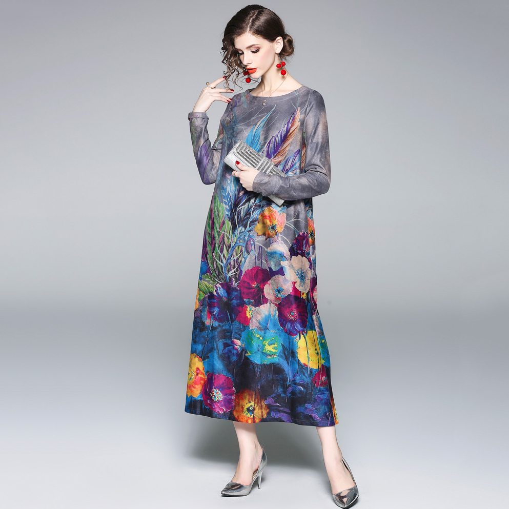 cb6f4cb91ab4 Купить Нью-джерси Платье оптом из Китая