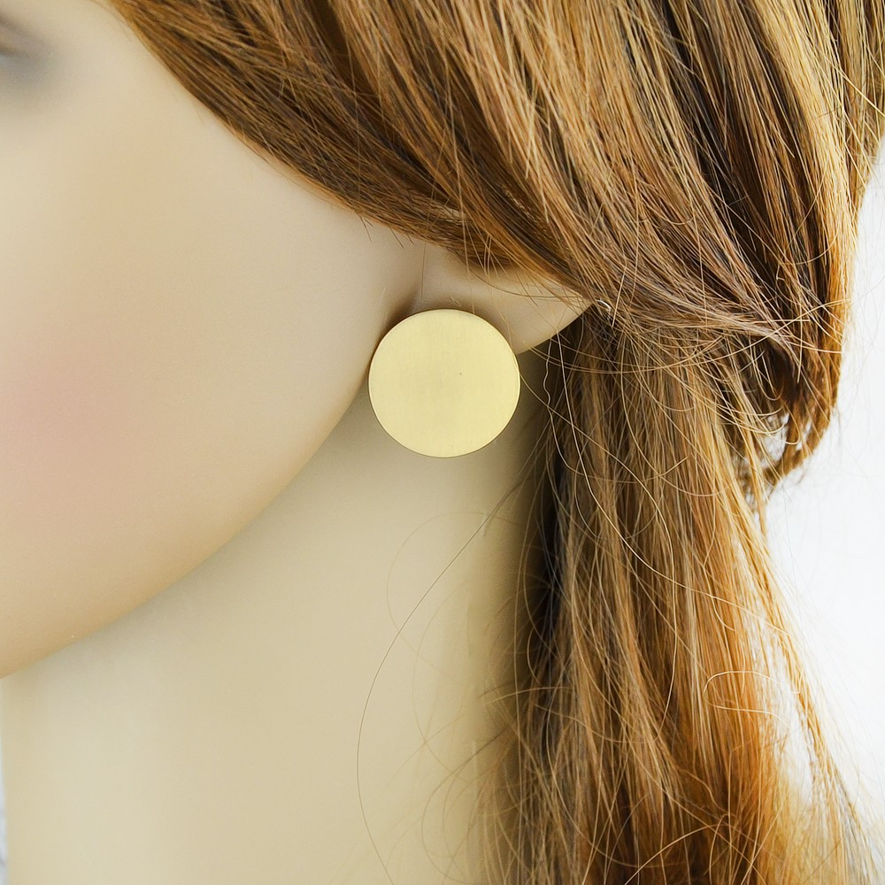 earring three metallic maria ball women jewelry stud yellow tash in large lyst trinity gold s