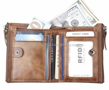 18636bab0d0d8b Men's leather short wallet 2018 new youth zipper top coat wallet men's  wallet