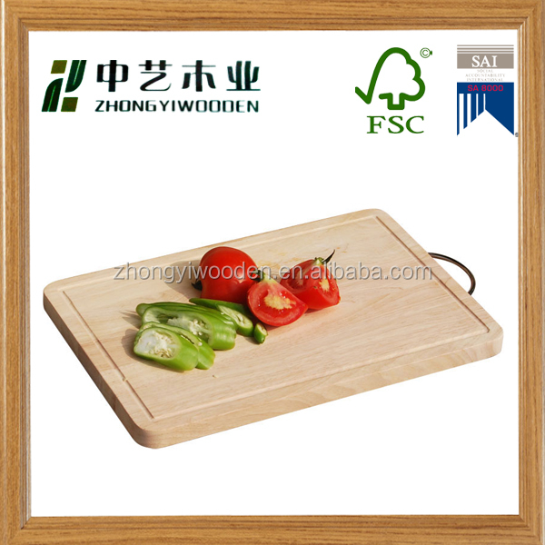 china factory FSC&SA8000 food grade wooden kitchen vegetable cutting board for christmas crafts