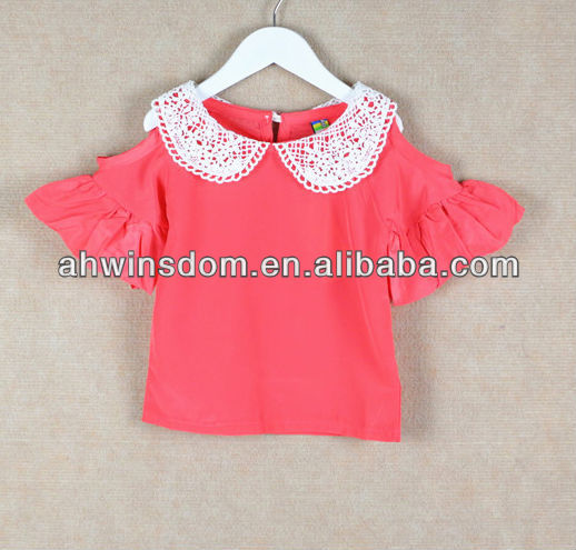EUROPEAN NEWEST CHILDREN OFF SHOULDER BLOUSE d42120a
