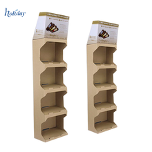 Factory Price Christmas Retail Cardboard Floor Display Stand With Single Design