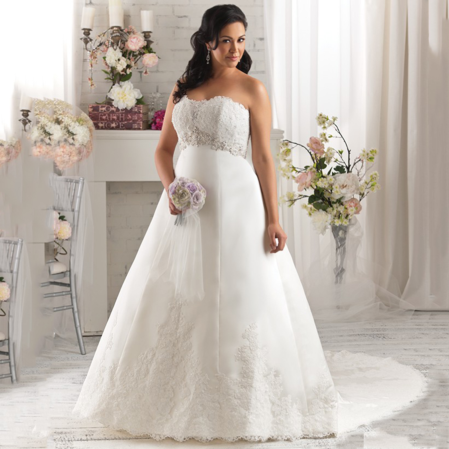 Wedding Gowns For Plus Sizes: Vintage Empire Waist Maternity Formal Bridal Gowns For