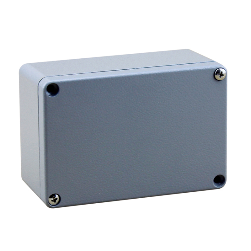 Hot Sale 120*80*55MM IP66 Waterproof Electrical Aluminium Box with 4 Screws and 2 Mounting Feet High Quality
