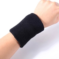 Fashion custom absorb festival black embroidery cotton terry sweat wristbands