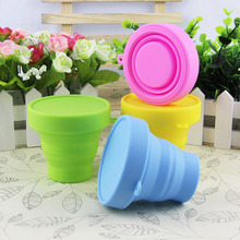 170ML outdoor travel cup is a lovely jelly - made and environmentally friendly silicone folding cup retractable cup