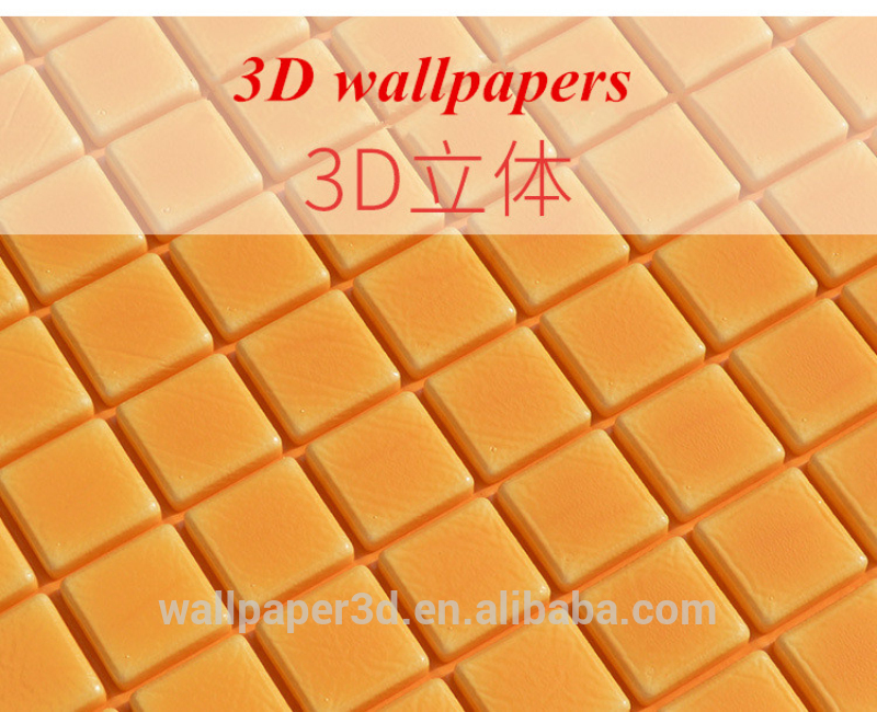 Modern design Cheap Square brick pattern wallpaper