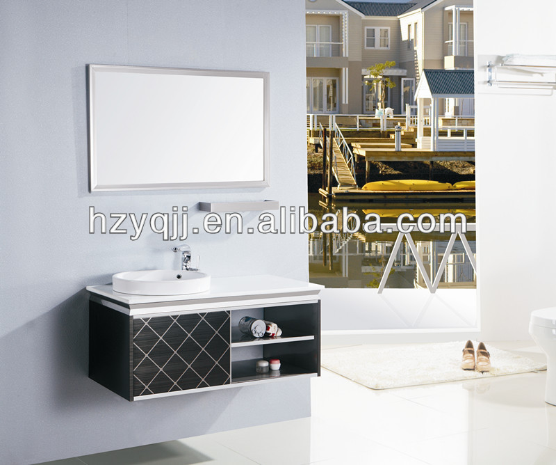 Modern Simple Design Hotel Bathroom Vanity Hanging Wall Ss