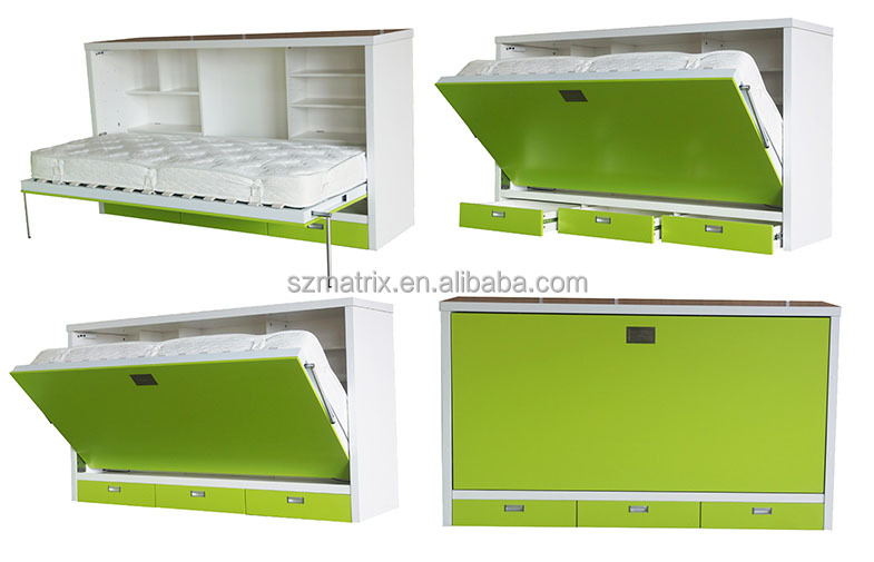 wall bed murphy bed,folding wall bed, hidden wall bed,wall mounted bed