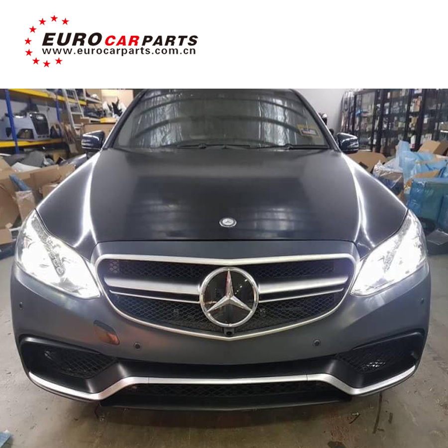 E Class W212 E63 Body Kit For E260 E200 E300l Up To E63 2014 Year With Hood  Scoop Front Grille Bumpers Muffler Tips - Buy Body Kit For Mb E-class