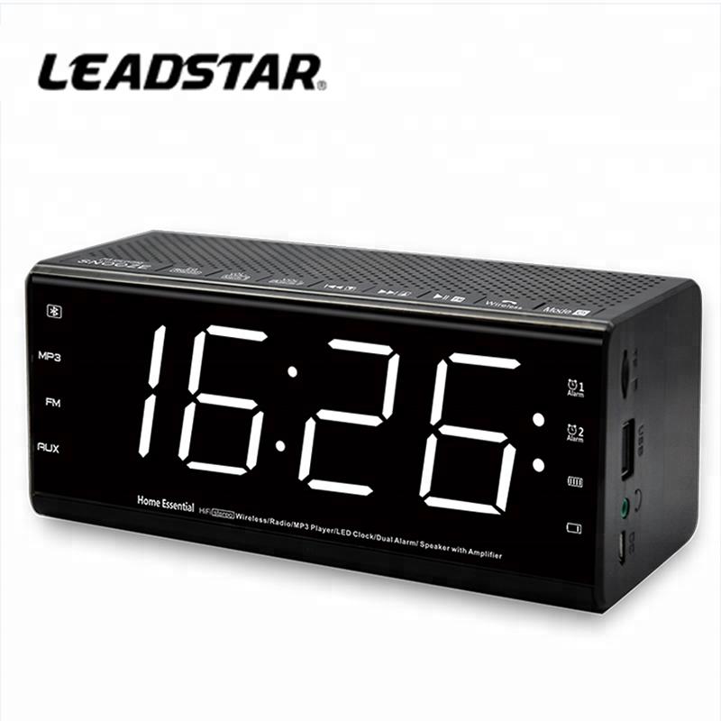 Clocks Efficient New Fashion Modern Am/fm Led Clock Radio Electronic Desktop Alarm Clock Digital Table Clocks Snooze Function
