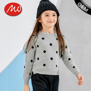 68c174ed6103 Lovely Dot Pattern Cashmere Knit Baby Sweater Design For Girls - Buy ...