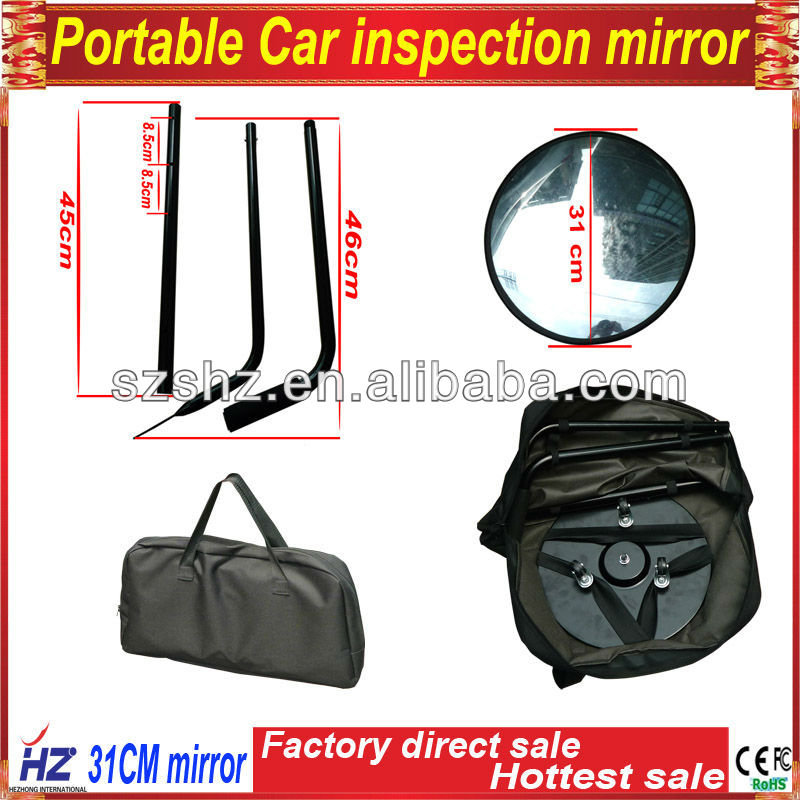 Under vehicle inspection Mirror / Car Bomb Detector system with LED light
