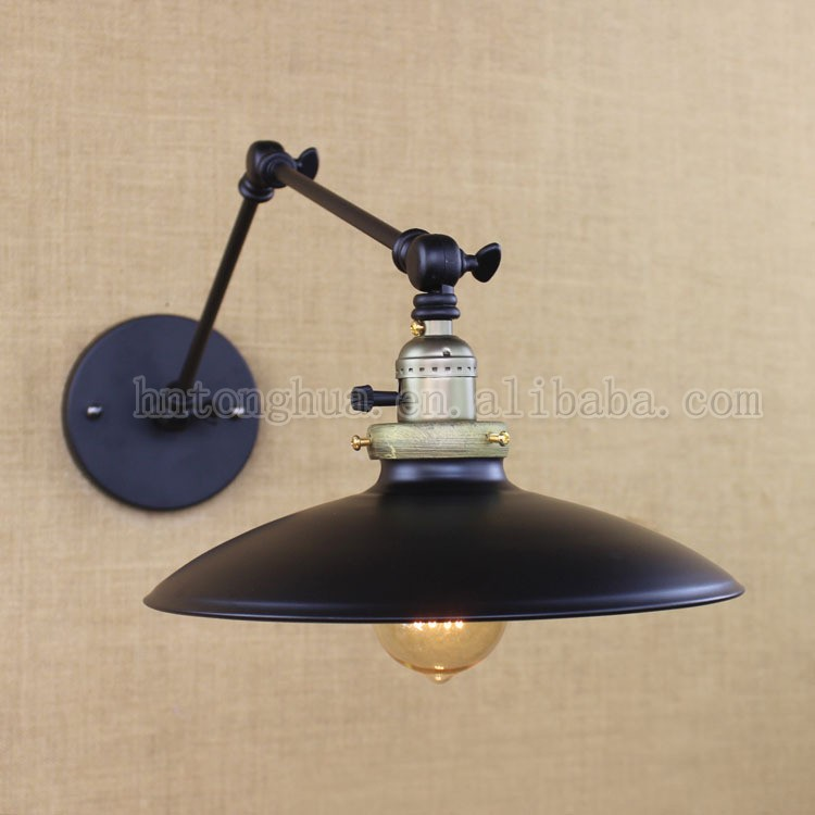 Manufacturer Vintage Wall Lamp E27 4 Styles Metal Shade Wall Light
